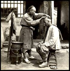 A PORTABLE BARBER SHOP ON A STREET in OLD CHINA by Okinawa Soba, via Flickr