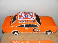 Homemade General Lee Car Cake: A couple days before the General Lee Car Cake needed to be done, I made a batch of royal icing, Wilton has a great recipe for it, and made up a few different