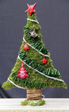 Bloemschikken Rosalie: Bloemschikken Advent & Kerst 2014 - 2. Kerstboompje