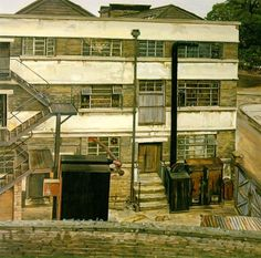 Factory in North London by Lucian Freud on Curiator, the world's biggest collaborative art collection. Lucian Freud, Sigmund Freud, Urban Landscape, Landscape Art, Landscape Paintings, Oil Paintings, Landscapes, Robert Rauschenberg, Edward Hopper