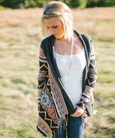 Dream Chaser Cardigan $69  - AMaVo #aztecsweater #cardigan #billabong #fallfashion #ootd #pretty