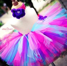 Beautiful MultiColor Rainbow Tutu Infant by EllaCarrMadeInBklyn, $30.00