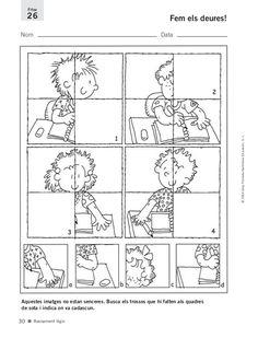 8484352544 fitxes desenvolupament intel·ligencia 2 Preschool Worksheets, Math Resources, Math Activities, Kids Education, Special Education, Teach English To Kids, Cutting Practice, Teachers Corner, Felt Books