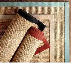 Thinking about sisal wool area rugs for the living room - perhaps a diff. color binding for the tv vs. Pottery Barn Colors, Jute Rug, Sisal Rugs, Sisal Carpet, Modern Outdoor Furniture, Kitchen Rug, Kitchen Design, Cheap Carpet, Natural Rug