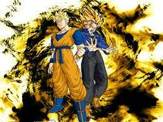 Trunks and his master future Gohan :-D