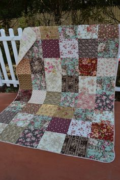 Handmade Traditional Quilt Cottage Chic by TrueloveQuiltsForYou