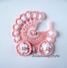 Baby Stroller Applique Crochet PATTERN PDF, Carriage, buggy, pram Best Picture For ganchillo Crochet For Your Taste You are looking for something, and it is. Crochet Hook Sizes, Crochet Motif, Crochet Flowers, Crochet Patterns, Crochet Crafts, Crochet Toys, Crochet Projects, Crochet Baby Booties, Baby Blanket Crochet