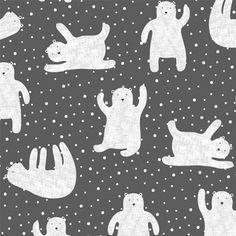 Hawthorne Threads - Fair Isle - Polar Bears in Charcoal  Pajamas for the boys! Love these!