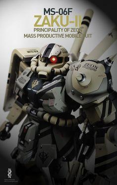 PG 1/60 MS-06F Zaku II - Customized Build Modeled by honnisee