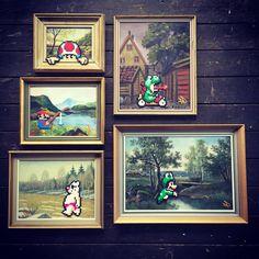 "Johan Karlgren on Instagram: ""#spamthursday 5 new paintings for @alalondon on saturday! #pappasparlor #pappaspärlor #pixelart #fusebeads #panduro #panduropyssel…"""