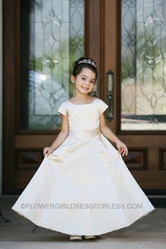 054b7c371d01 TT_5377 - Flower Girl Dress Style 5377-All Satin Cap Short Sleeved Aline  Dress - See All Dresses - Flower Girl Dress For Less