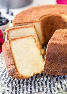 This is truly the BEST pound cake recipe, soft and dense with a wonderful flavor and made completely from scratch! This is truly the BEST pound cake recipe, soft and dense with a wonderful flavor and made completely from scratch! Perfect Pound Cake Recipe, Pound Cake Recipes, Easy Cake Recipes, Baking Recipes, Best Pound Cake Recipe Ever, Easy Pound Cake, Dense Cake Recipe, Lemon Bundt Pound Cake Recipe, Homemade Pound Cake