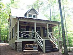 Max Fulbright Designs - Small Cabin House Plan 794 sq ft