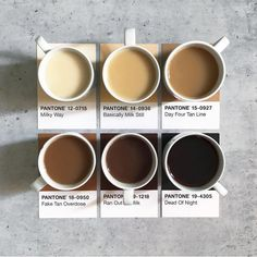 Do you have the habit of enjoying a cup of tea in the evenings after dinner? Or do you prefer having them in the mornings? Which Pantone colour would your tea match? But First Coffee, Best Coffee, My Coffee, Coffee Drinks, Coffee Shop, Coffee Lovers, Aesthetic Coffee, Aesthetic Food, Paleta Pantone