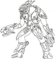 Halo 3 Elite By GermanWolf44