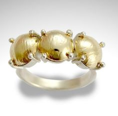 Sterling silver with yellow gold statement ring  by artisanlook, $202.00