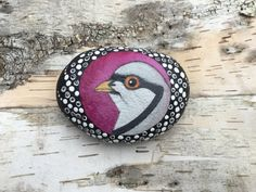Painted Stone, Painted Rock, Bird Painting, Chukar, Rock Painting, Stone Painting, Paperweight, Home Decor, Ornament, OneStonedBird