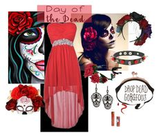 """""""Day of the Dead"""" by lilyboutique ❤ liked on Polyvore featuring art, Dayofthedead and LilyBoutique"""