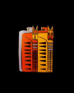 LAUREL BURCH Egypticat Pin Brooch New on by Circa71Jewelry on Etsy