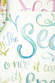 lettering with makewells: painting letters