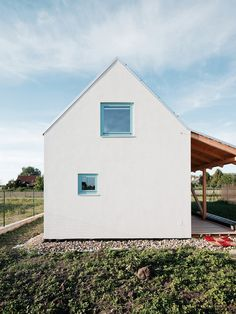 Slovakian studio JRKVC has designed a house near Bratislava with a glazed gable wall to fill the interior with light and focus views on a nearby field. Cabinet D Architecture, Space Architecture, Gable Wall, Glazed Walls, Natural Building, Beautiful Homes, Modern Design, House Design, Villa