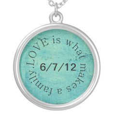 adoption necklace: I love this..so sweet. I'd need one with both our boys adoption dates.