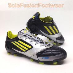 70e9abd76ed Adidas F50 adizero Mens Football Boots size 7 Leather FG Cleats US 7.5 EU  40 2