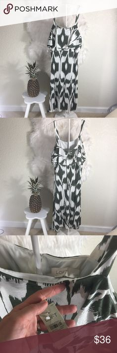 "NWT LOFT Islander Ruffler midi dress New with tags in perfect condition. Length: 43"", bust: 38"" LOFT Dresses Midi"