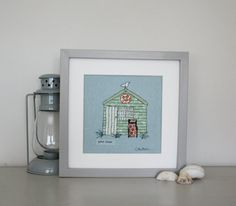 Good times lovely embroidered beach hut by CarolineKirtonDesign, £55.00
