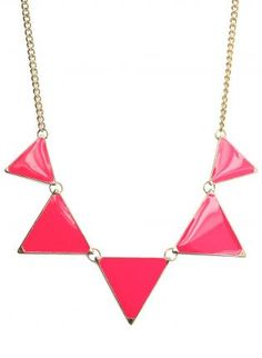 Neon Triangle Enamel Necklace,  Jewelry, neon necklace  triangle necklace, Casual