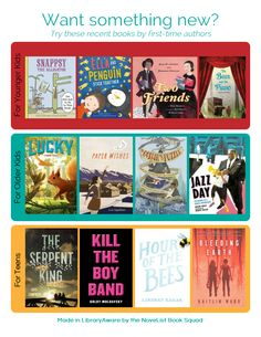 Our Book Squad has done it again! Don't you adore this fantastic ready-to-go end cap flyer featuring new books for kids and teens? LibraryAware customers can easily customize this list or just print and go!