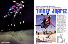Tinker Juarez BMX Action Tinker Juarez Night April 1980 King of Skatepark Cross Country Mountain Bike, Mountain Bike Races, Bmx Freestyle, Living Legends, Skate Park, Road Racing, Mtb, Action, Baseball Cards