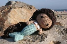 Crochet Pattern Mere the little mermaid amigurumi doll door Owlishly