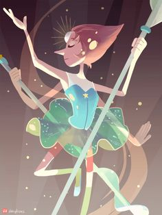 "abbydraws: "" Pearl not really last of the series, hopefully adding steven/rose quartz too. [Garnet] [Amethyst] """
