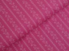 DIRNDLSTOFF - Pink Streifen-Ranken 100% Baumwolle