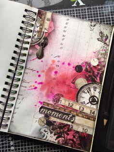 Scrap, Paper, Scissors: Prima Engraver Papers… Schrott, Papier, Schere: Prima Engraver Papers … Art Journal Pages Art Journal Pages, Art Journals, Artist Journal, Travel Journals, Art Pages, Mixed Media Journal, Mixed Media Art, Arte Gcse, Gcse Art Sketchbook