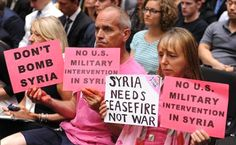 CODEPINK: Take Action Now! President Obama has been conducting airstrike in Iraq and even has over 1,000 boot on the ground, and now he is threatening to begin airstrikes in Syria–– all without Congressional approval. US military intervention in the region has historically been counterproductive. Tell President Obama: Don't bomb Syria or Iraq!