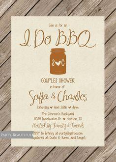 fa88924022b Couples or Coed Wedding Shower Invitation-Rustic