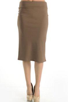 Mocha Pencil Skirt