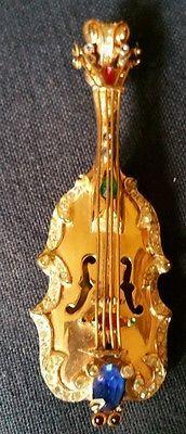 Vintage Corocraft Sterling Lg PEGASUS Violin Katz 1947 Carnegie Hall Musical