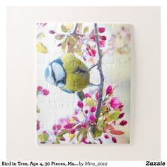 Bird in Tree Age 4 30 Pieces Make Your Own Jigsaw Puzzle Pink Trees, Pink Flowers, Custom Gift Boxes, Customized Gifts, Bird Tree, Make Your Own Puzzle, Ways To Relax, Puzzles For Kids, High Quality Images