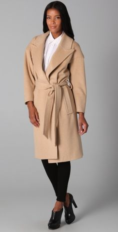 Smythe Wrap Coat thestylecure.com