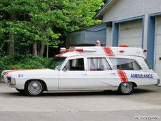 vintage Pontiac Ambulance white Bonneville