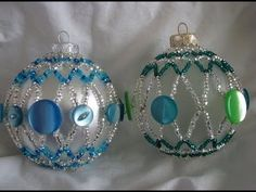beaded christmas ornaments free patterns | Free Beaded Christmas Ornament Patterns - http://www.guidetobeadwork ...