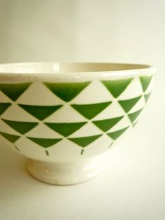 1 Art Deco Cafe au Lait Bowl  French Coffee Bol by CrolAndCo