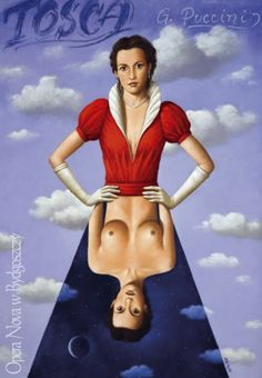 Tosca, Poster for the Opera of Giacomo Puccini, designer: Rafał Olbiński, 2004