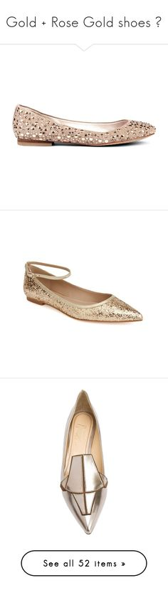 """""""Gold + Rose Gold shoes 🎷"""" by tenindvr ❤ liked on Polyvore featuring shoes, flats, sweet mint blue, studded ballet flats, sparkly flats, blue shoes, ballet flat shoes, ballet pumps, gold sparkle and gold sparkly shoes"""