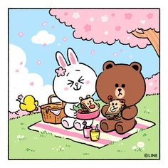 BROWN PIC is where you can find all the character GIFs, pics and free wallpapers of LINE friends. Come and meet Brown, Cony, Choco, Sally and other friends! Cute Love Pictures, Cute Love Gif, Cony Brown, Brown Bear, Line Cony, Cute Couple Cartoon, Lines Wallpaper, Kakao Friends, Brown Line