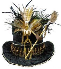 voodoo top hat (link doesn't work but I like the design) Voodoo Party, Voodoo Halloween, Halloween Hats, Halloween 2014, Holidays Halloween, Halloween Themes, Halloween Decorations, Pirate Halloween, Halloween Stuff