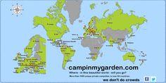 We don't do crowds. More than 1000 unique private micro #campsites http://campinmygarden.com    #travel #sharingeconomy